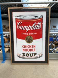 Campbells ingekaderde poster