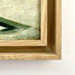 Ingekaderde kunst dubbele houten kader rechterhoek