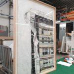 Ingekaderd schilderij houten kader